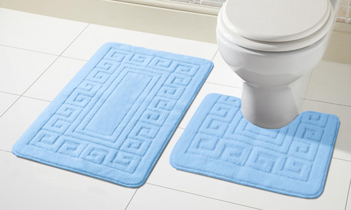 2 tlg. Antirutsch Bad Garnitur für Badezimmer Badematten ...
